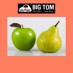 image of an apple and pear