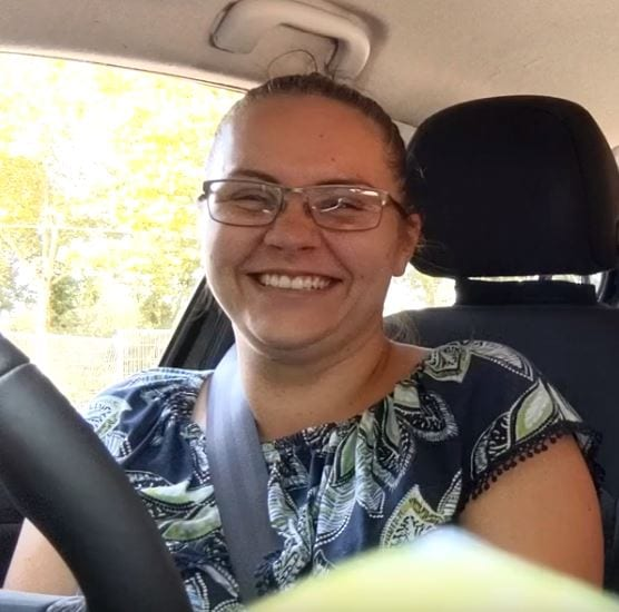 portrait of tia richardson after driving test pass in boston